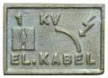 MGK 198 - Mesingana pločica za obeležavanje trase